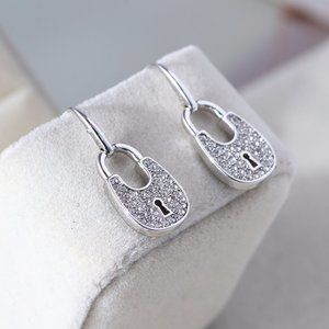 Michael Kors Oval Lucky Lock Earrings